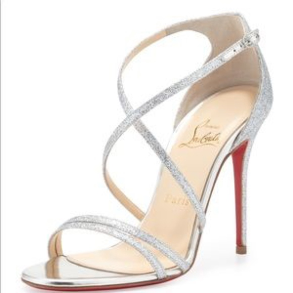 free shipping 169d3 4fced Christian Louboutin, Gwynitta, silver glitter
